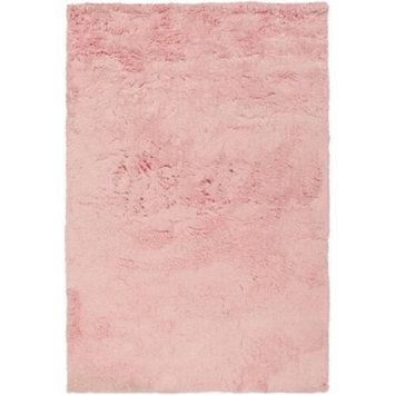 2' x 3' Plush Gods Pastel Pink Super Soft Hand Woven Area Rug
