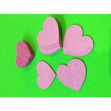 Pink Heart Shaped Compressed Sponge - Pack of 144