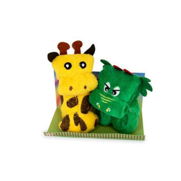 Couture Towel CT-GS15000019 13 x 14 x 2 in. Rex The Dino & Genny The Giraffe Towel Fun Day in The Park
