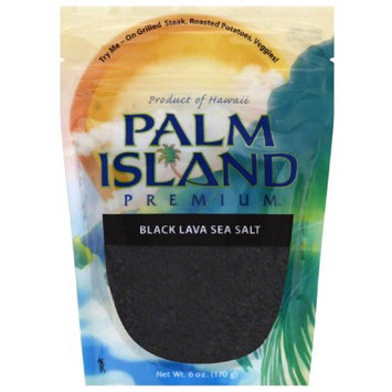Palm Island Premium Black Lava Sea Salt, 6 oz, (Pack of 6)