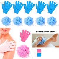 Alltopbargains 12Pc Shower Bath Glove Mesh Ball Wash Skin Massage Scrub Loofah Body Scrubber