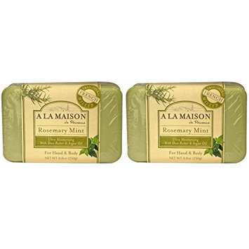 A La Maison de Provence Rosemary Mint Hand and Body Soap (Pack of 2) With Coconut Oil and Shea Butter, 8.8 oz Each