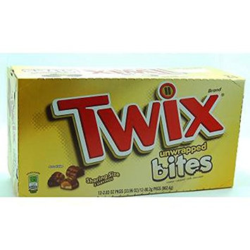 Twix King Size Unwrapped Bites, 12 Count (CHOC. CANDY - KING SIZE)