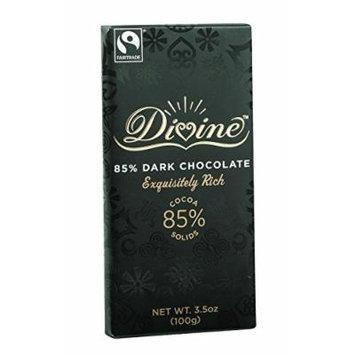 Divine Chocolate Bar - Dark Chocolate - 85 Percent Cocoa - 3.5 oz Bars - Case of 10 Kosher