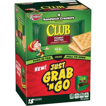 Kellogg Sale Company Keebler Club Peanut Butter Sandwich Crackers 12 Ct Caddies (Pack Of 4)