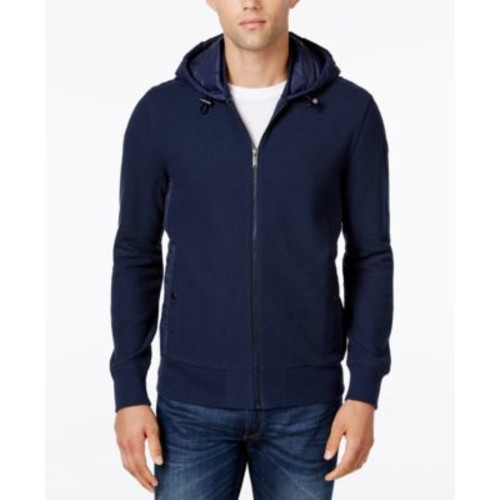 Michael Kors Men's Quilted Drawstring Hoodie- Macy's Exclusive