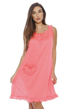 Dreamcrest Nightgown / Women Sleepwear / Womans Pajamas (Bright Coral, Small, Gowns)