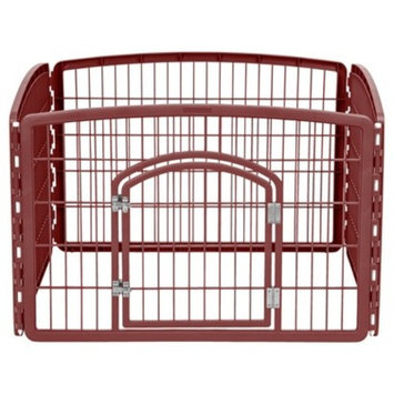 IRIS 4-Panel Pet Pen with Door, Blue