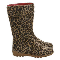 L'Amour Brown Black Leopard Buckle Boot Toddler 7-Little Girl 4