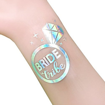 12-Pack Bride & Team Bride Temporary Tattoos, Bachelorette Party Supplies and Accessories Favours, Metallic Shiny Gold (T10RS, T11RS)
