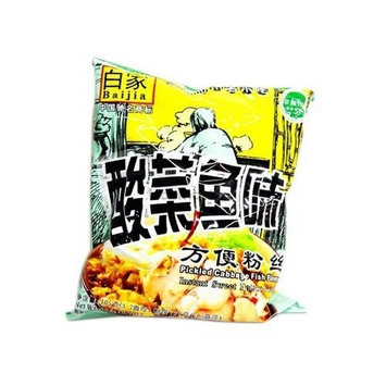 Sichuan Baijia Instant Sweat Potato Thread/noodle Artificial Pickled Cabbage Fish 2.48 Oz (Pack of 8)