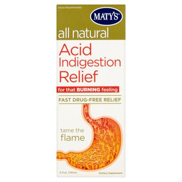 Maty's All Natural Acid Indigestion Relief, 4 fl oz