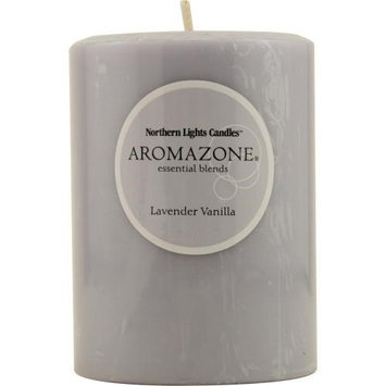 Lavender & Vanilla Essential Blend By Lavender & Vanilla Essential Blend One 3X4 Inch Pillar Essential Blends Candle. Burns Approx. 90 Hrs.