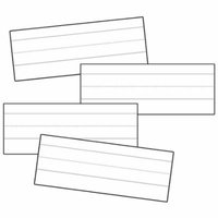 WORD STRIPS LINED WHITE 100/PK 3X8