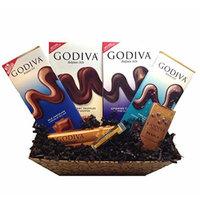 GODIVA Chocolatier Gift Basket with Jarosa Organic Lip Balm