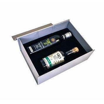 QO Gourmet Gift Set of 2 , 1 Extra Virgin Olive Oil & 1 USDA Organic Balsamic Vinegar , 8.45 fl-oz (250 ml) each