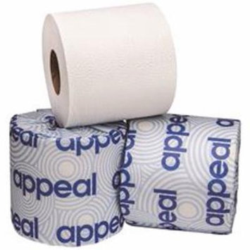 Appeal Single-Roll Universal Bath Tissue, 2-Ply, 4'' X 3-3/4'', 500 Sheets Per Roll, 96 Rolls Per Case