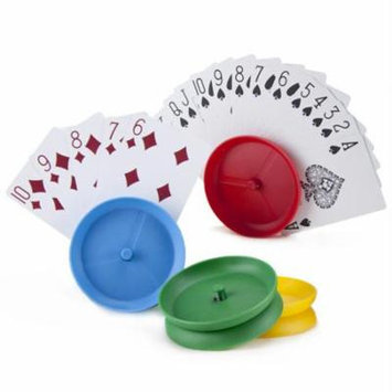 Circle-shaped Hands-Free Playing Card Holders by Brybelly Multi-Colored
