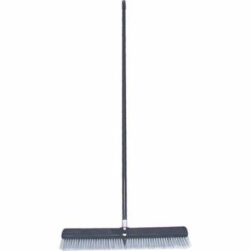 Birdwell Cleaning 4025-4 Power Push Broom, 24 x 2-5/8 x 7/8 in, Polyprolene and Polystyrene, Gray Fl
