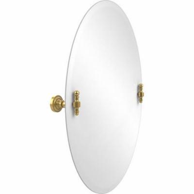 Frameless Oval Tilt Mirror with Beveled Edge