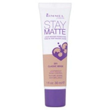 Rimmel London Stay Matte Liquid Mousse Foundation, Classic Beige, 1 fl oz