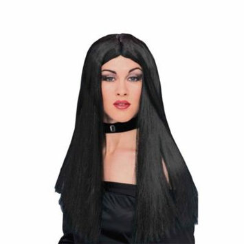 Adult Womens Costume Long Black Straight Witch or Vampire Wig