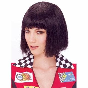 Glitzy Glamour Bob Black Adult Costume Wig One Size