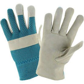 Style Selections Women's Large Teal/Grey Polyester Garden Gloves LW23077-WL