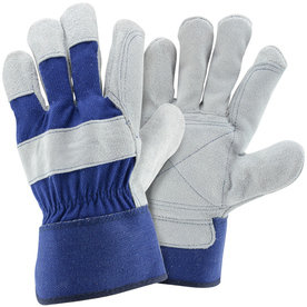 Blue Hawk Large Male Polyester Leather Palm Work Gloves LW75526-L