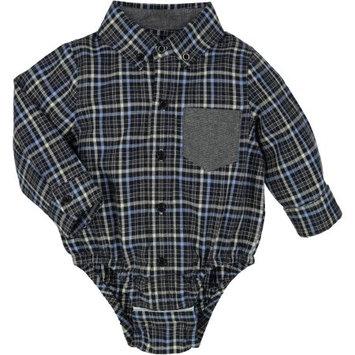 G-Cutee Newborn Baby Boy Grey Flannel Check Shirt