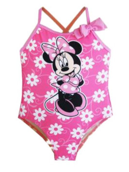 Disney Minnie Mouse Infant & Toddler Girls 1 PC Pink Flower Swim Suit 12m