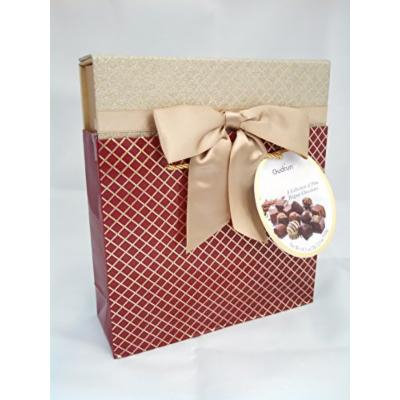 Gudrun Belgian Chocolate Box Bag Assorted Chocolates (18.34 Oz) (1.14 Lbs) (1 Box) (Red & Gold)