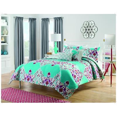 Vue Eden 5 Piece Reversible Comforter Collection, Queen