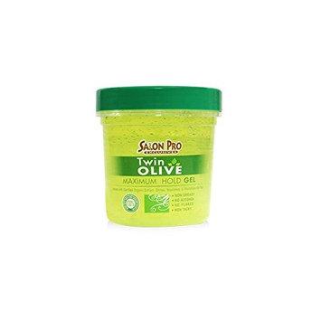 Salon Pro Twin Olive Maximum Hold Styling Gel 8oz