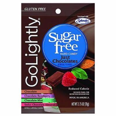 Golightly Sugar Free Hard Candy, Just Chocolates - 2.75 Oz