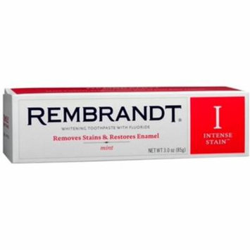 Rembrandt Whitening Toothpaste Intense Stain 3 oz (Pack of 4)