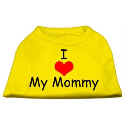 Ahi I Love My Mommy Screen Print Shirts Yellow Med (12)