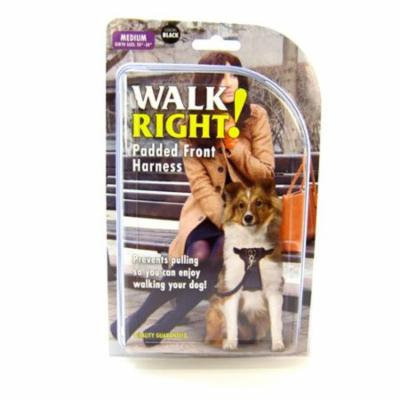 Walk Right Front Connected Dog Harness, Medium, Black