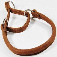 Dogline L1212-6 12 L x 0.25 W in. Round Leather Martingale Collar, Brown