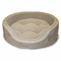 Snuggle Terry & Suede Oval Pet Bed - S