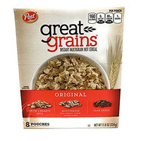 2 Pack - Post Great Grains Original Instant Multigrain Hot Cereal (2 - 11.8oz/8 pouch boxes)