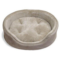 Furhaven Md Snuggle Terry & Suede Oval Pet Bed Clay