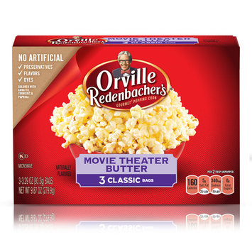 Orville Redenbacher's Movie Theater Butter Microwave Popcorn, 3.29 Oz., 3 Count