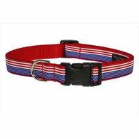 Sassy Dog Wear 13-20-Inch American Flag Dog Collar, Medium