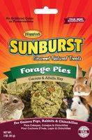 Higgins Sunburst Forage Pies Gourmet Treats for Guinea Pigs, Rabbits & Chinchillas, 3 oz.