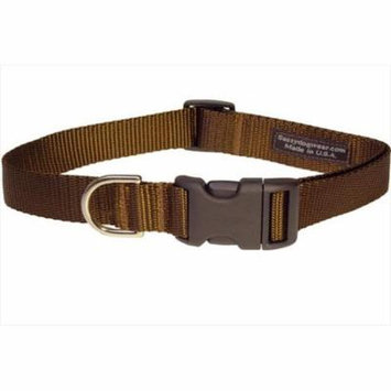 Sassy Dog Wear SOLID BROWN SM-C Nylon Webbing Dog Collar, Brown - Small