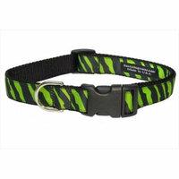 Sassy Dog Wear ZEBRA-GREEN-BLK. 4-C Zebra Dog Collar, Green & Black - Large