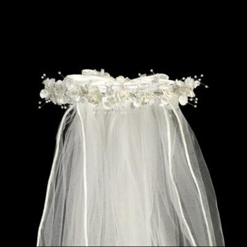 White Organza Flowers Rhinestone Pearl Accents Special Occasion 24