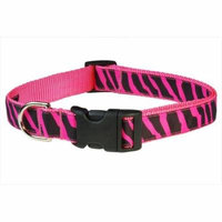 Sassy Dog Wear ZEBRA-PINK2-C Zebra Dog Collar, Pink - Small