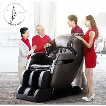FOREVER REST FR-5Ks PREMIER BACK SAVER, SHIATSU, ZERO GRAVITY MASSAGE CHAIR WITH FOOT ROLLING AND BUILT IN HEAT, STRETCH MODE (dark brown)